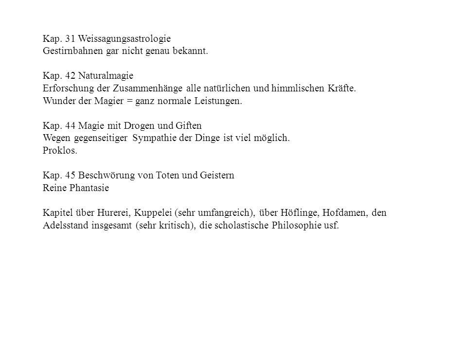 Kap. 31 Weissagungsastrologie