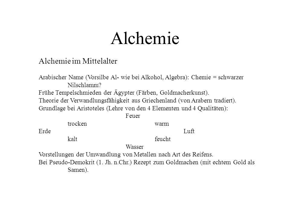 Alchemie Alchemie im Mittelalter