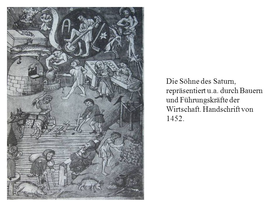 Die Söhne des Saturn, repräsentiert u. a