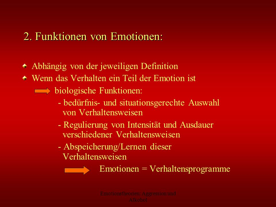 2. Funktionen von Emotionen: