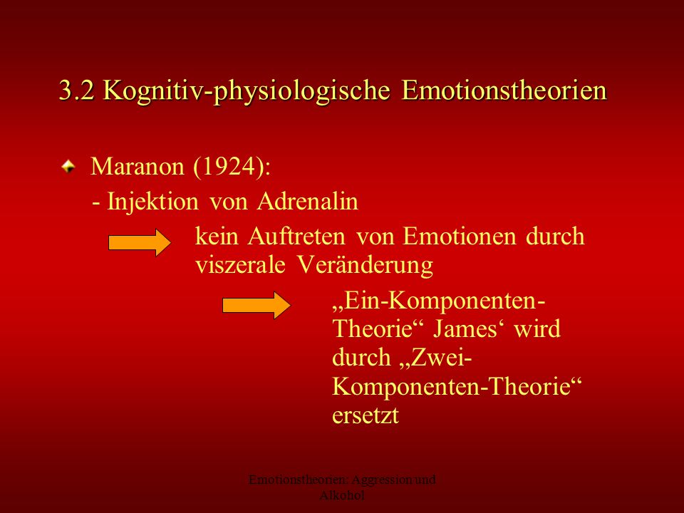 3.2 Kognitiv-physiologische Emotionstheorien