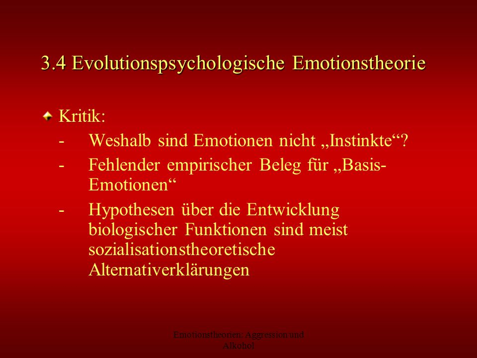 3.4 Evolutionspsychologische Emotionstheorie