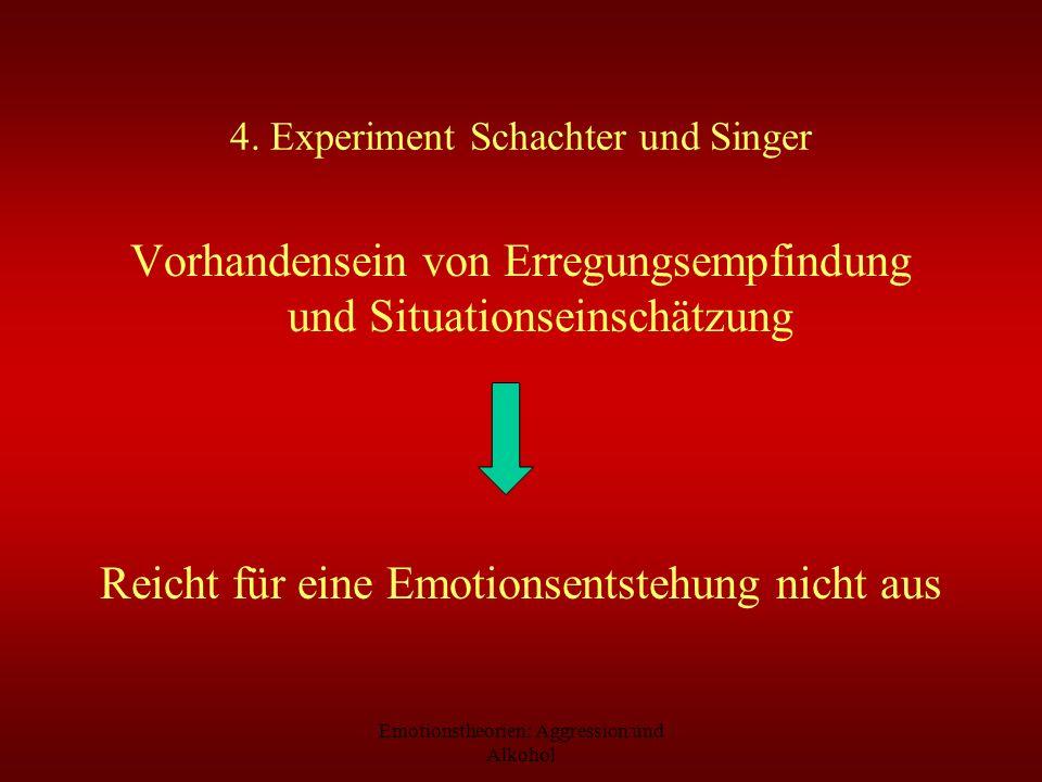 4. Experiment Schachter und Singer