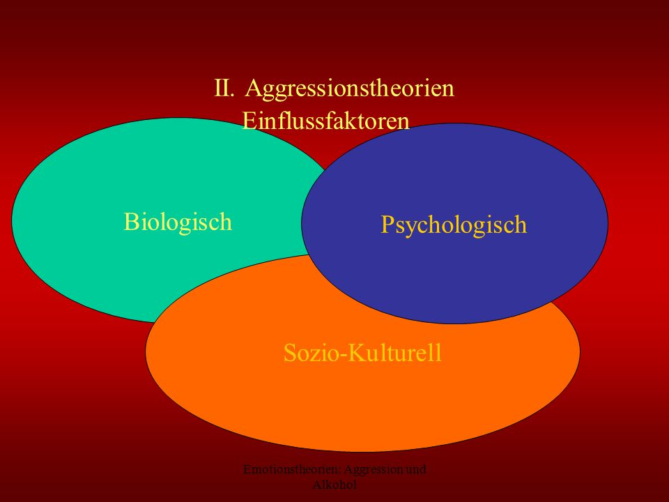 II. Aggressionstheorien