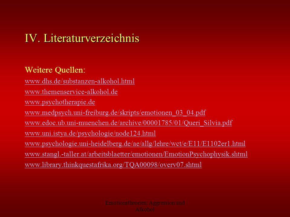 IV. Literaturverzeichnis