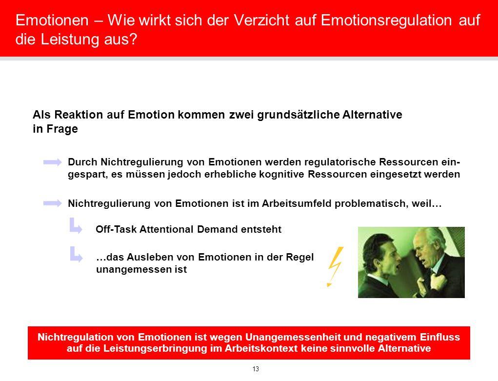 Emotionen – Wie wirkt sich der Verzicht auf Emotionsregulation auf die Leistung aus