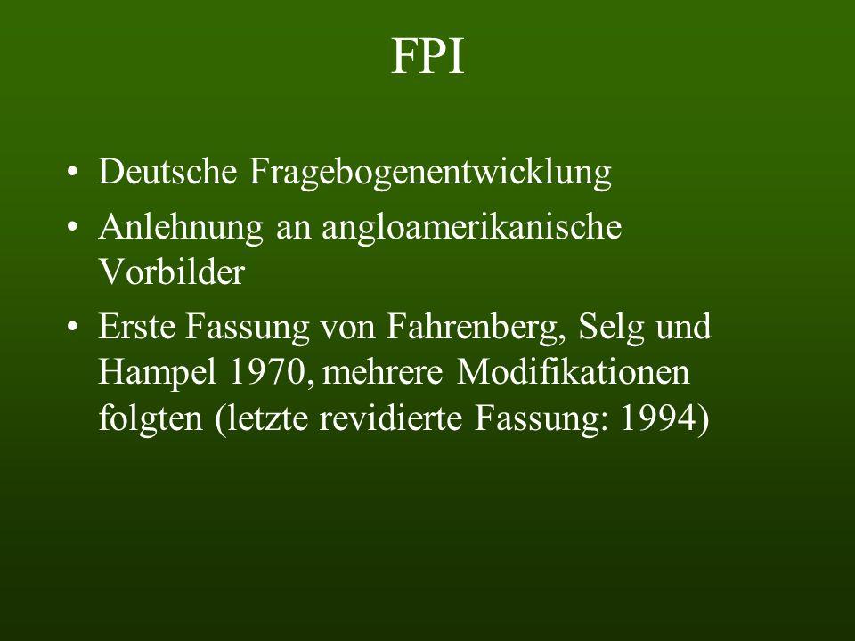 FPI Deutsche Fragebogenentwicklung