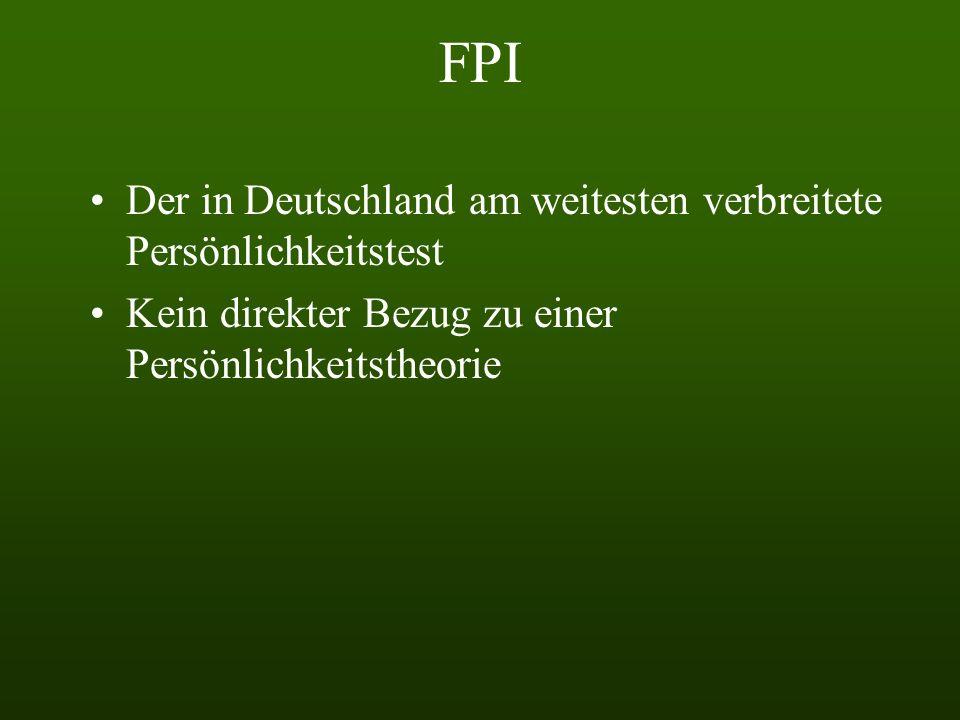 FPI Der in Deutschland am weitesten verbreitete Persönlichkeitstest