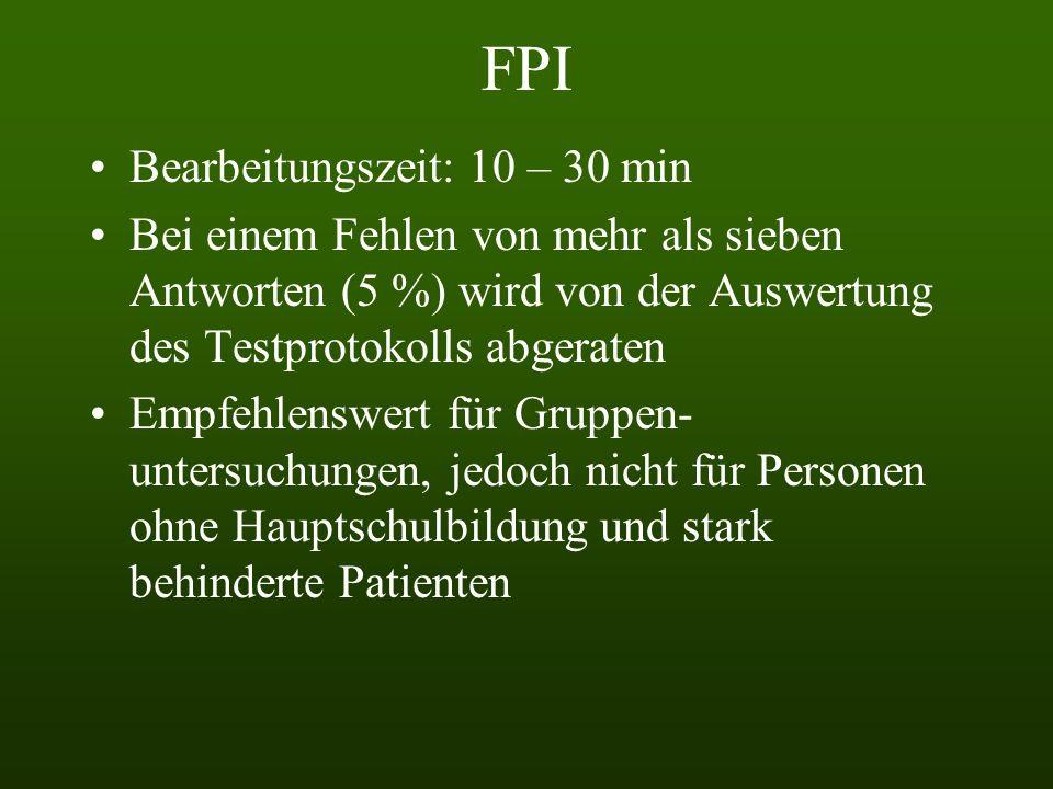 FPI Bearbeitungszeit: 10 – 30 min