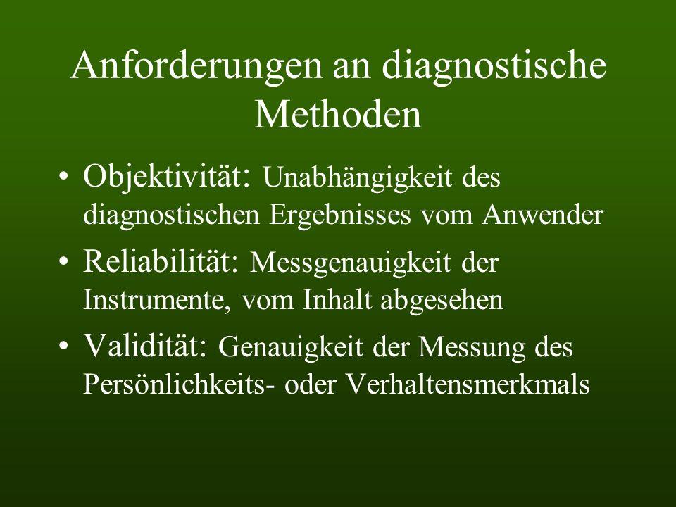 Anforderungen an diagnostische Methoden