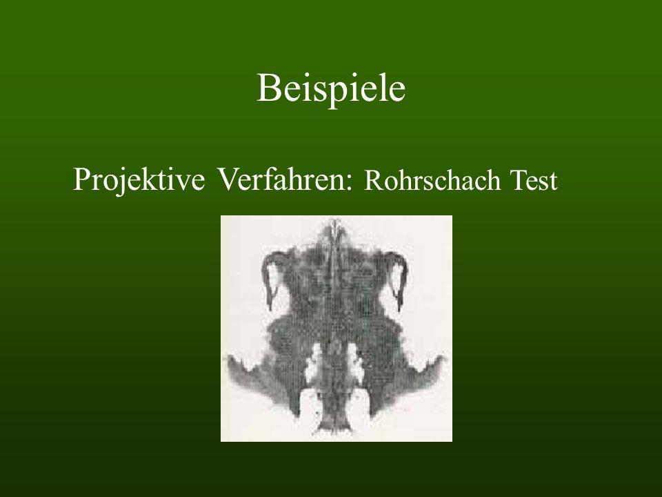 Beispiele Projektive Verfahren: Rohrschach Test