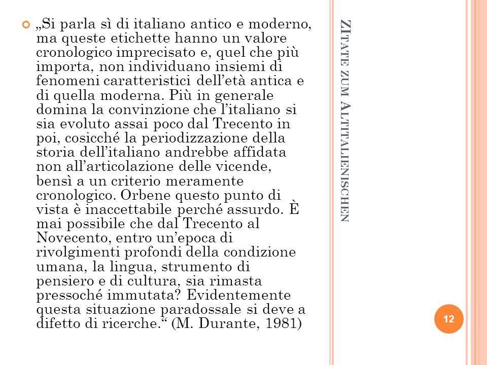 ZItate zum Altitalienischen