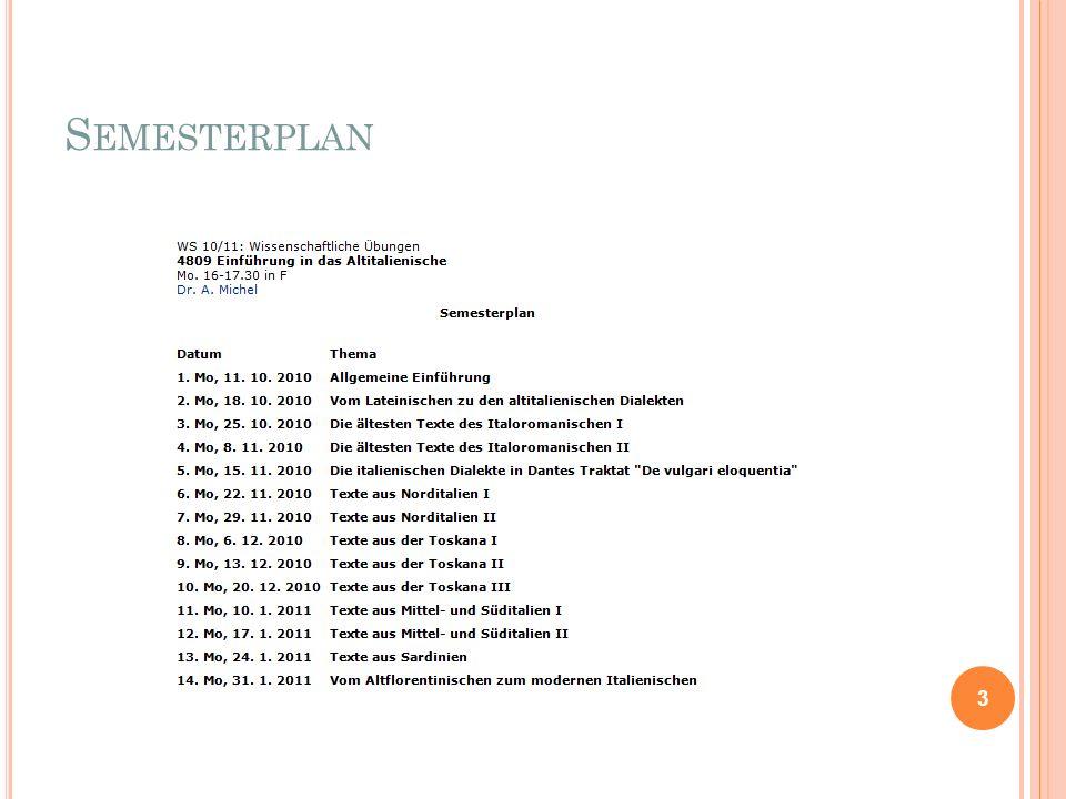Semesterplan