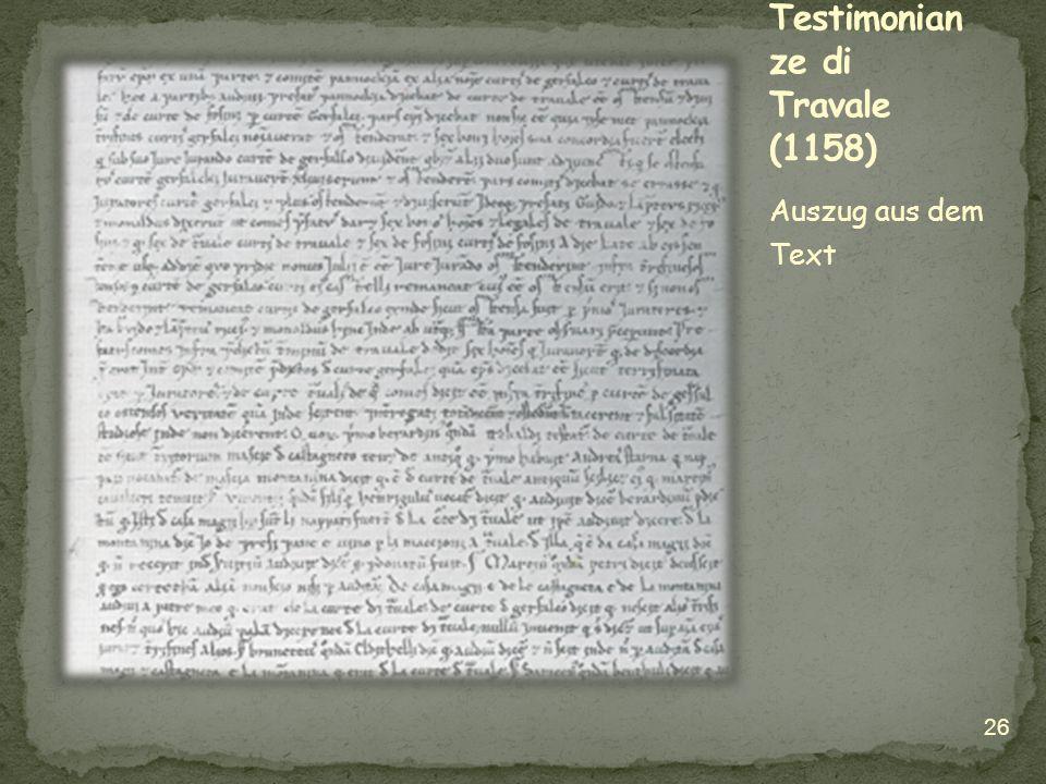 Testimonianze di Travale (1158)
