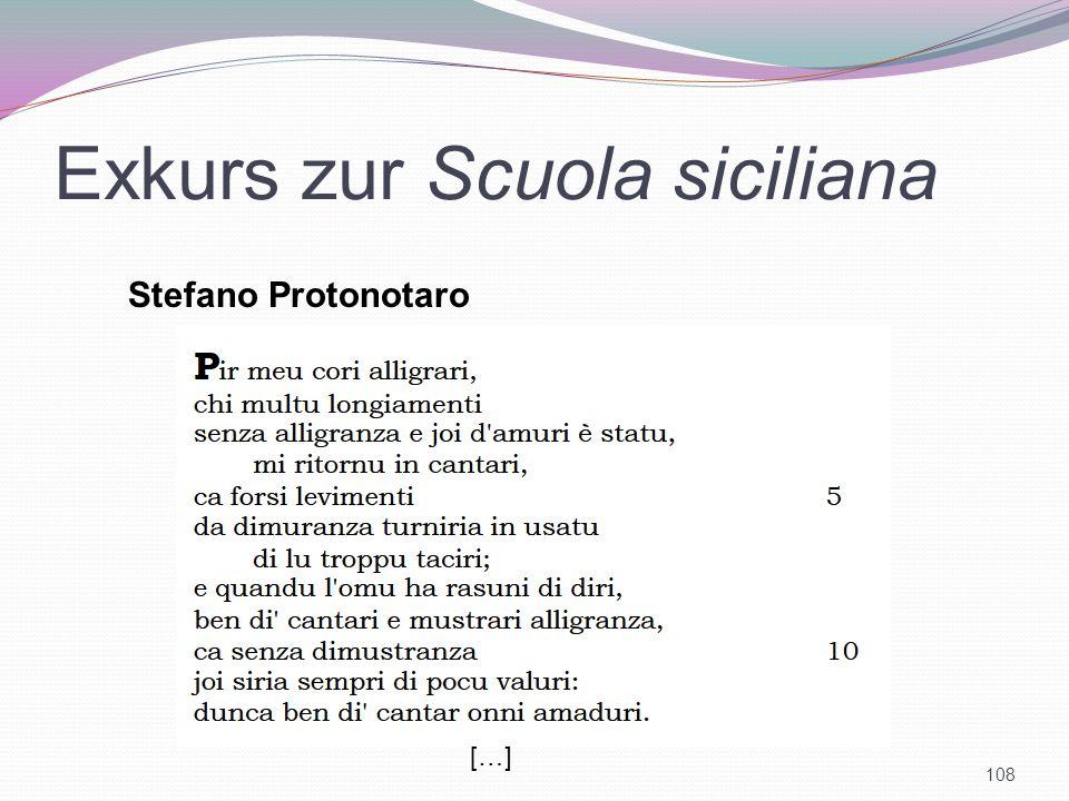 Exkurs zur Scuola siciliana