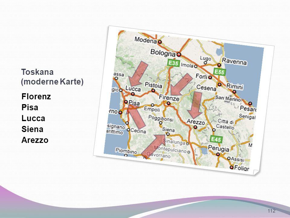 Toskana (moderne Karte)