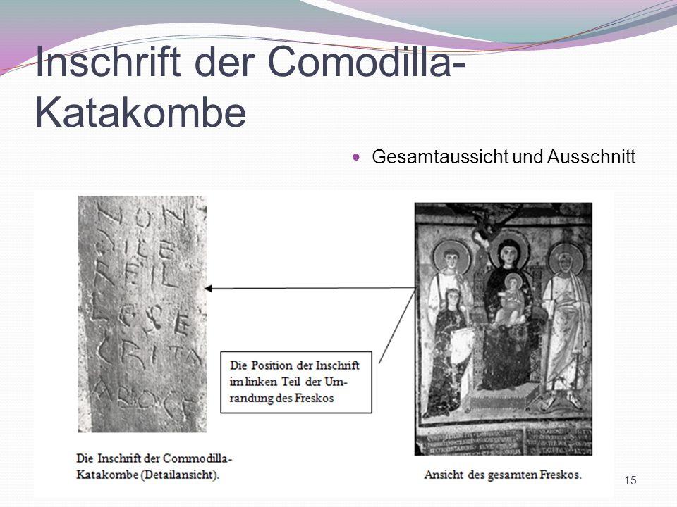 Inschrift der Comodilla-Katakombe