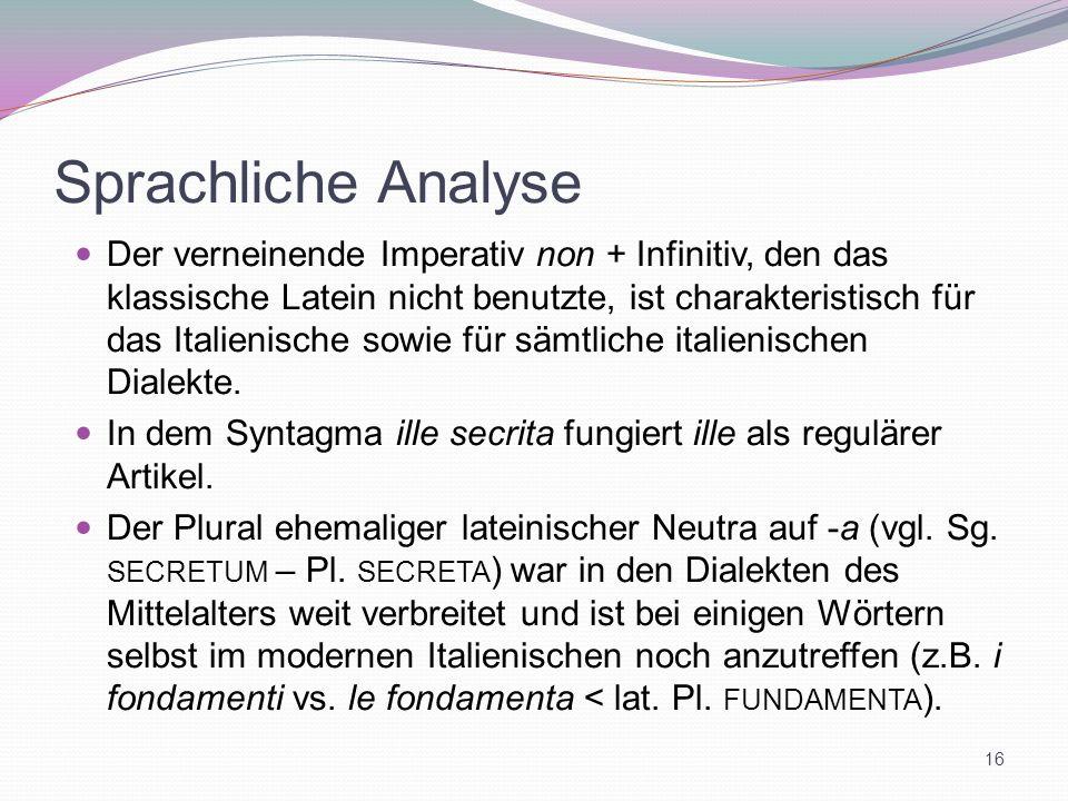 Sprachliche Analyse