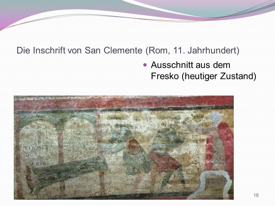 Die Inschrift von San Clemente (Rom, 11. Jahrhundert)