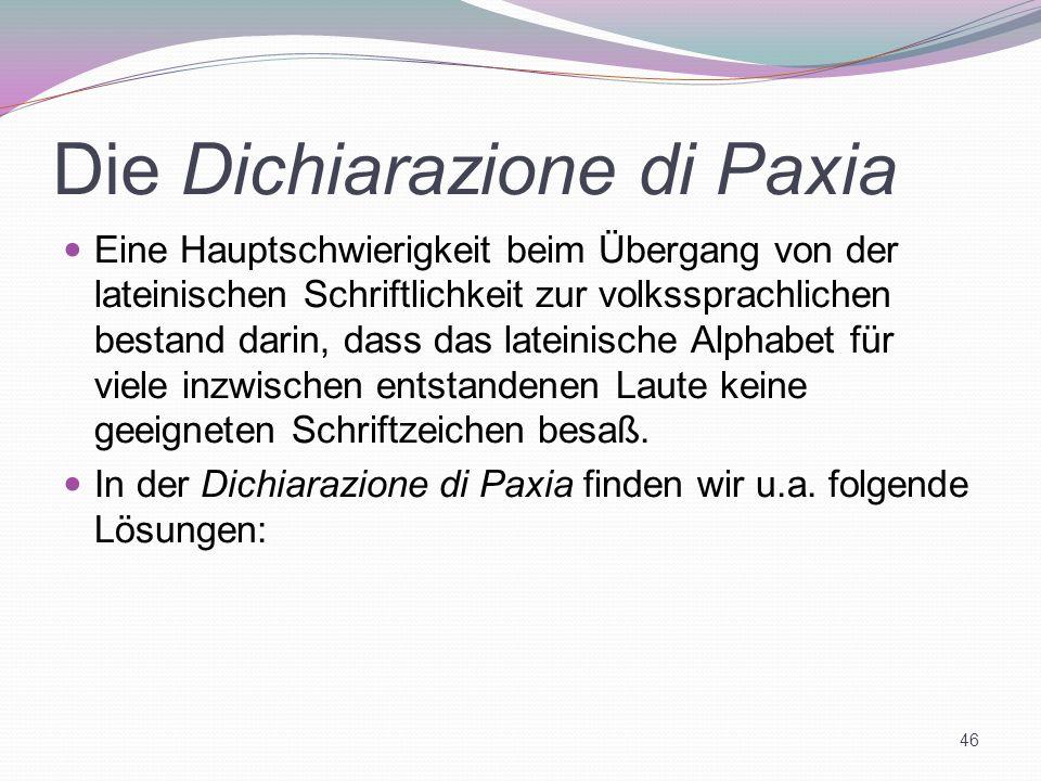 Die Dichiarazione di Paxia