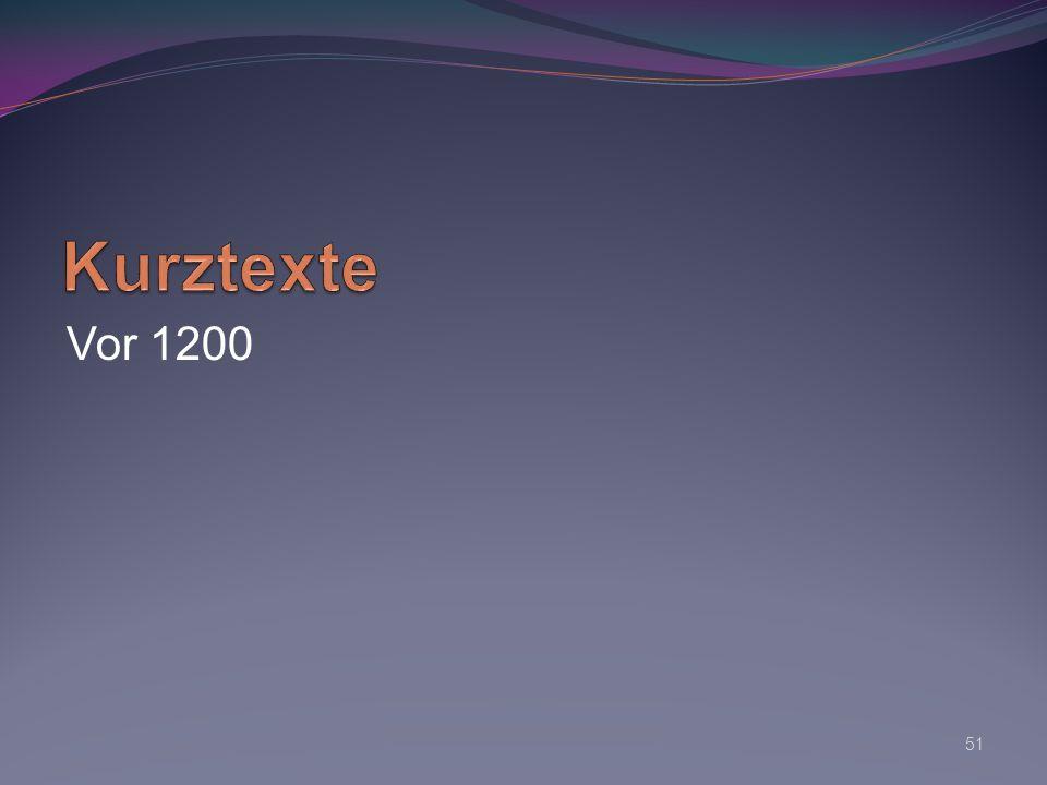 Kurztexte Vor 1200