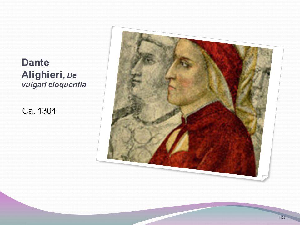 Dante Alighieri, De vulgari eloquentia