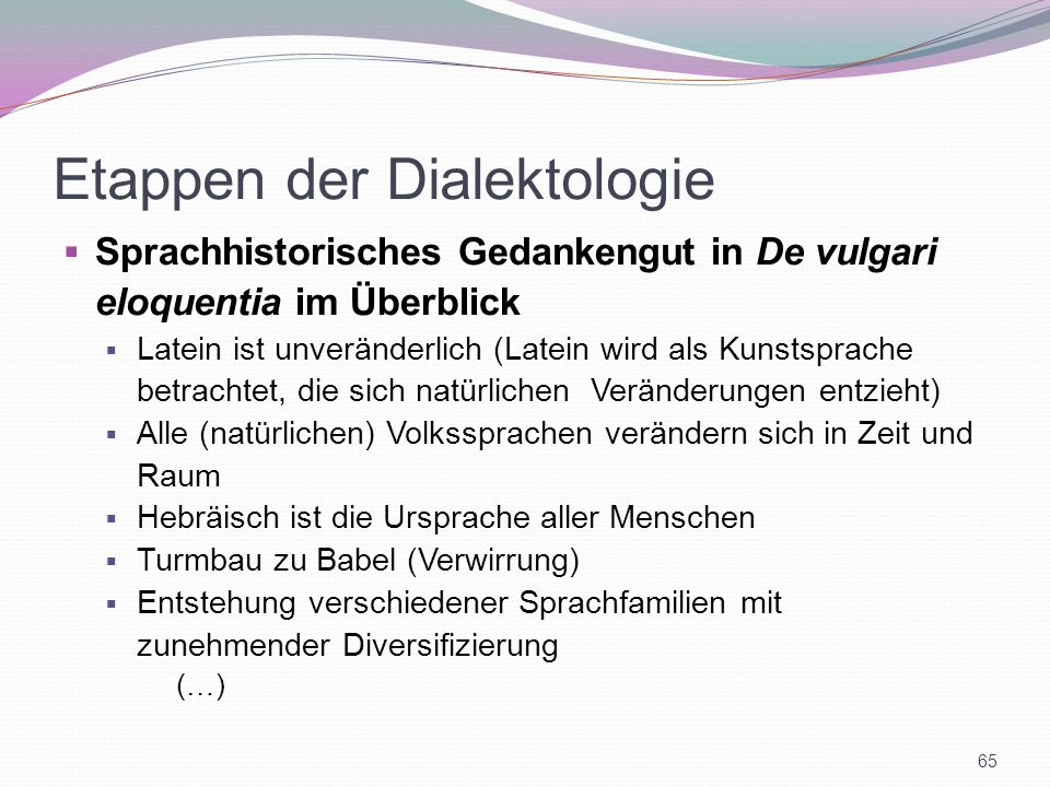 Etappen der Dialektologie