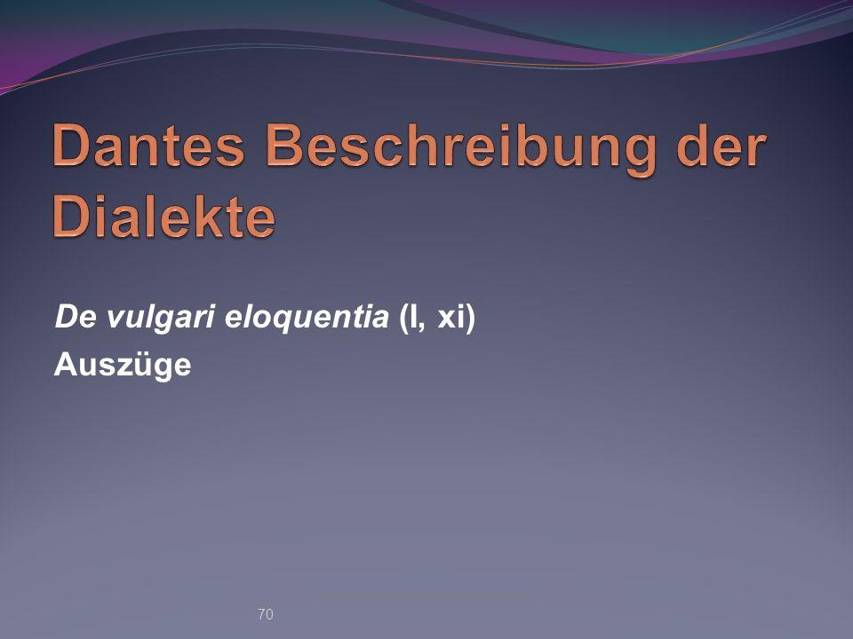 Dantes Beschreibung der Dialekte