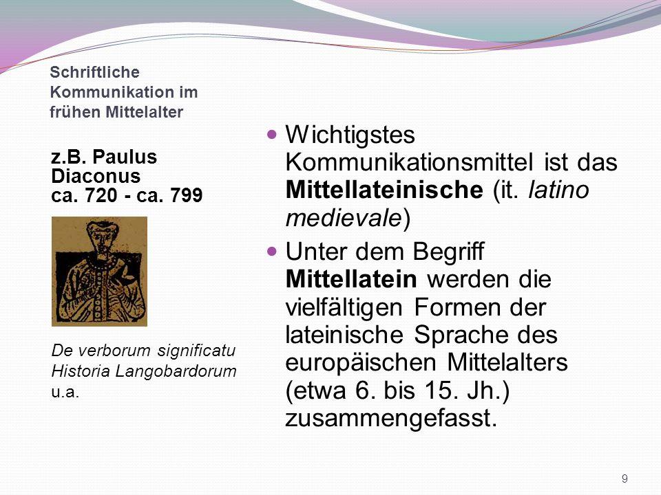 Schriftliche Kommunikation im frühen Mittelalter