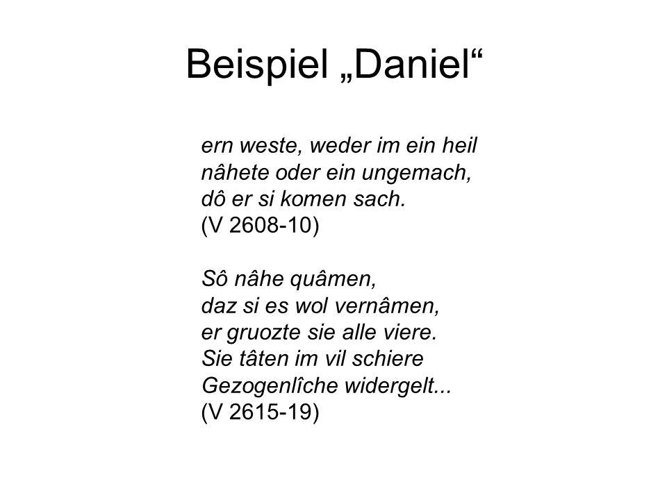 """Beispiel """"Daniel ern weste, weder im ein heil"""