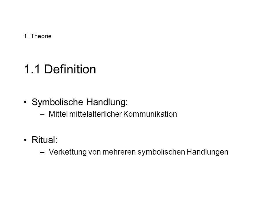 1.1 Definition Symbolische Handlung: Ritual: