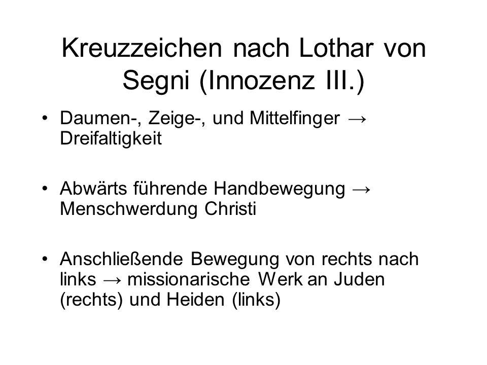 Kreuzzeichen nach Lothar von Segni (Innozenz III.)