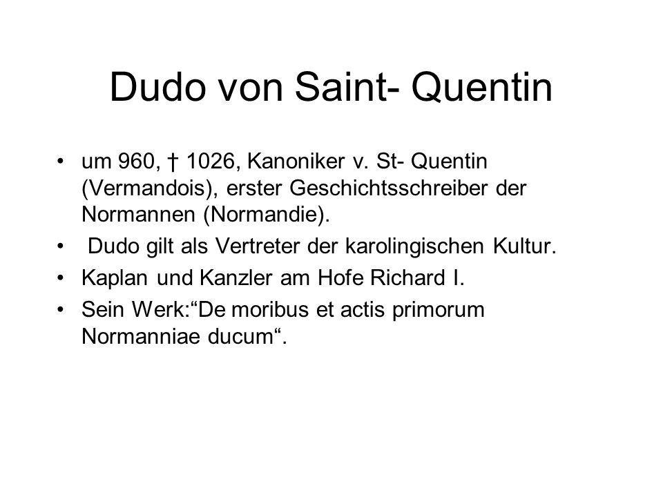 Dudo von Saint- Quentin