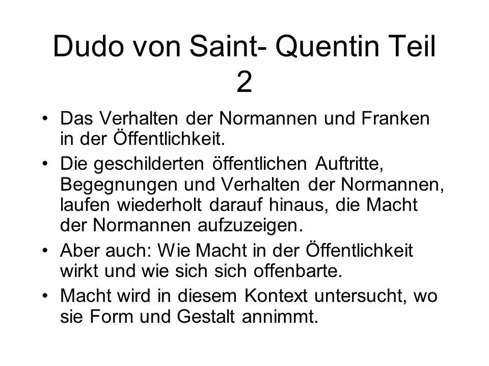 Dudo von Saint- Quentin Teil 2