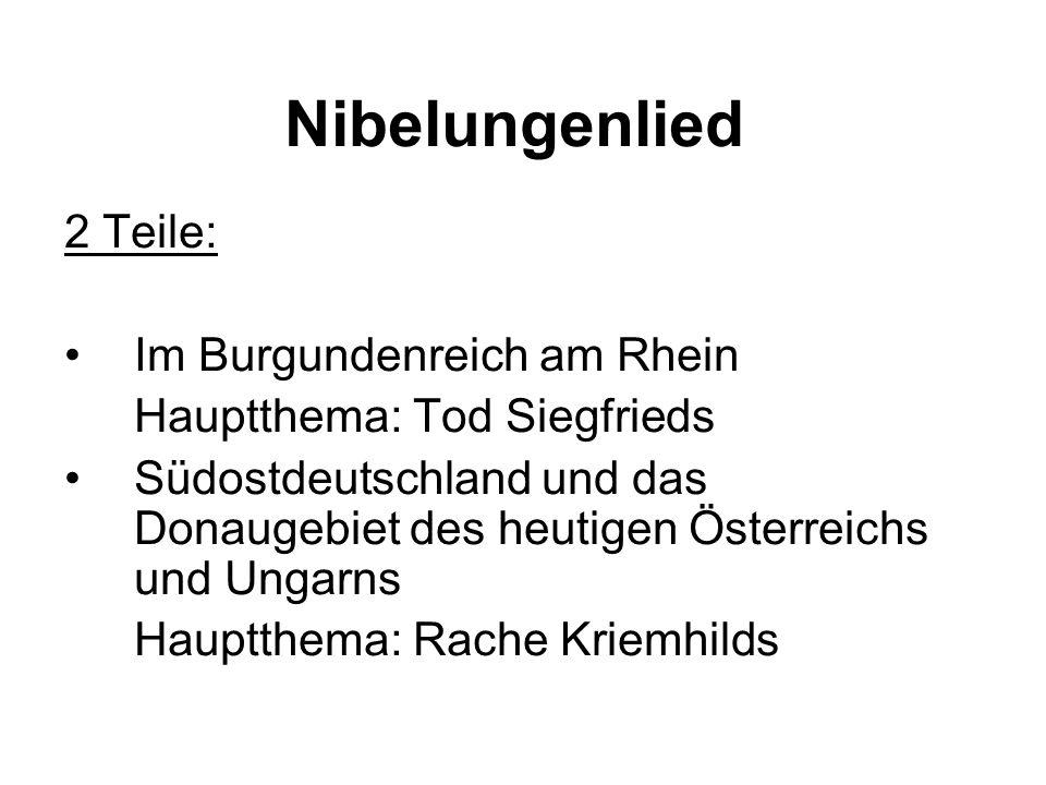 Nibelungenlied 2 Teile: Im Burgundenreich am Rhein
