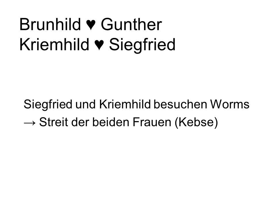 Brunhild ♥ Gunther Kriemhild ♥ Siegfried
