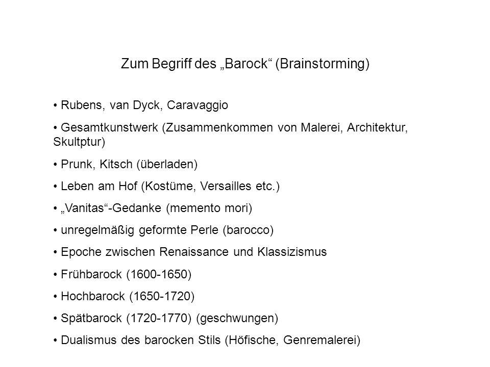 """Zum Begriff des """"Barock (Brainstorming)"""