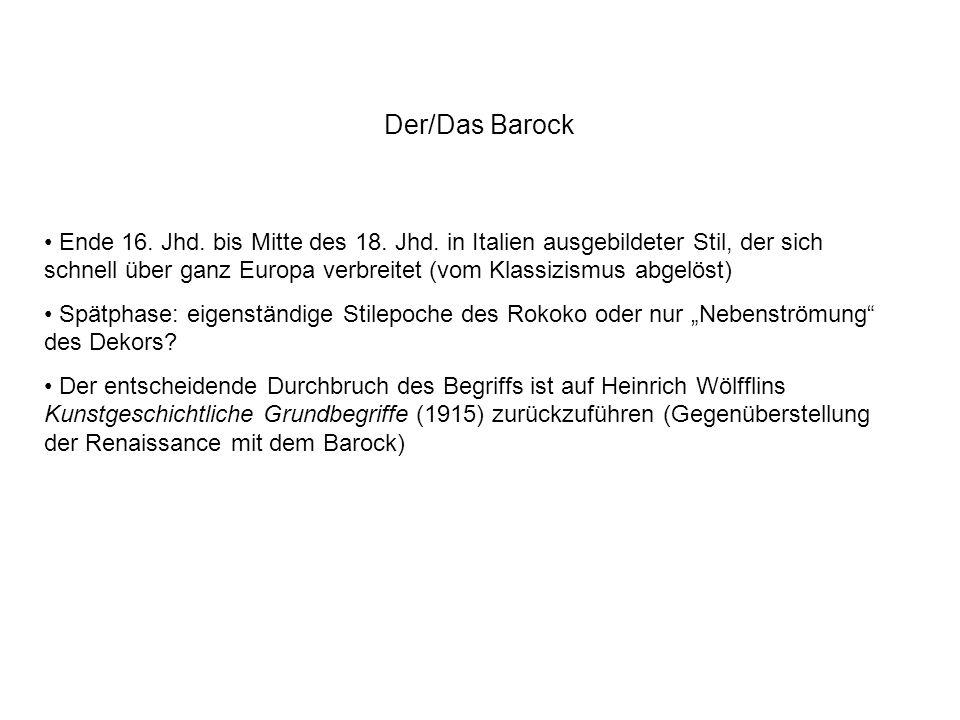 Der/Das Barock