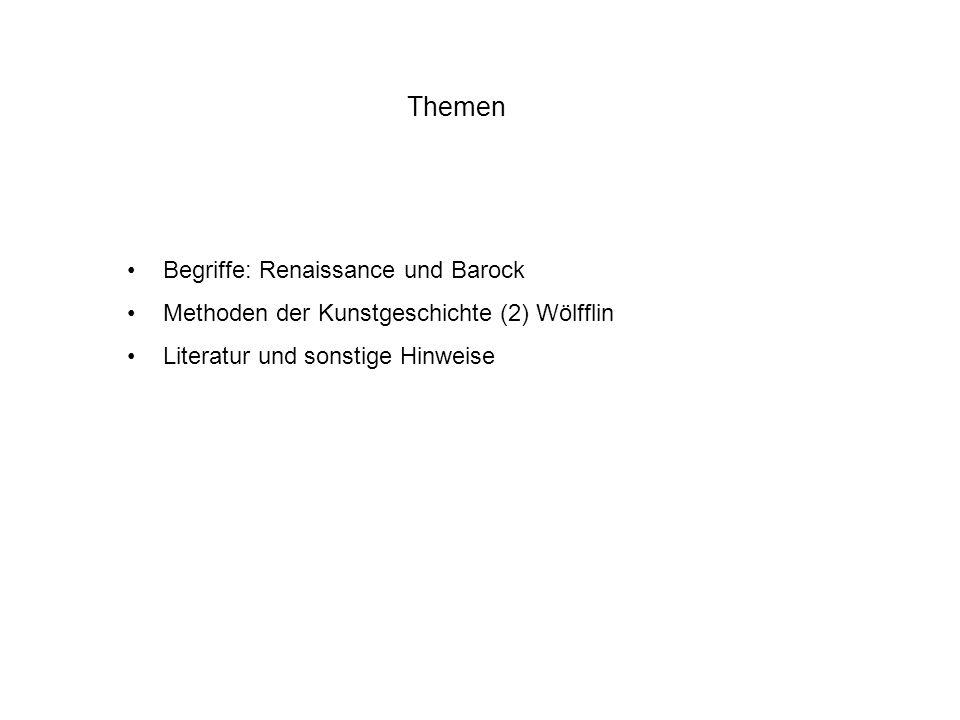 Themen Begriffe: Renaissance und Barock