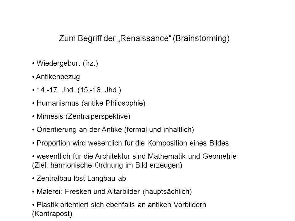 """Zum Begriff der """"Renaissance (Brainstorming)"""