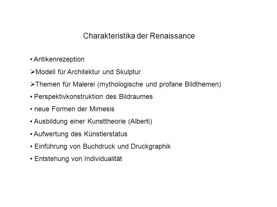Charakteristika der Renaissance