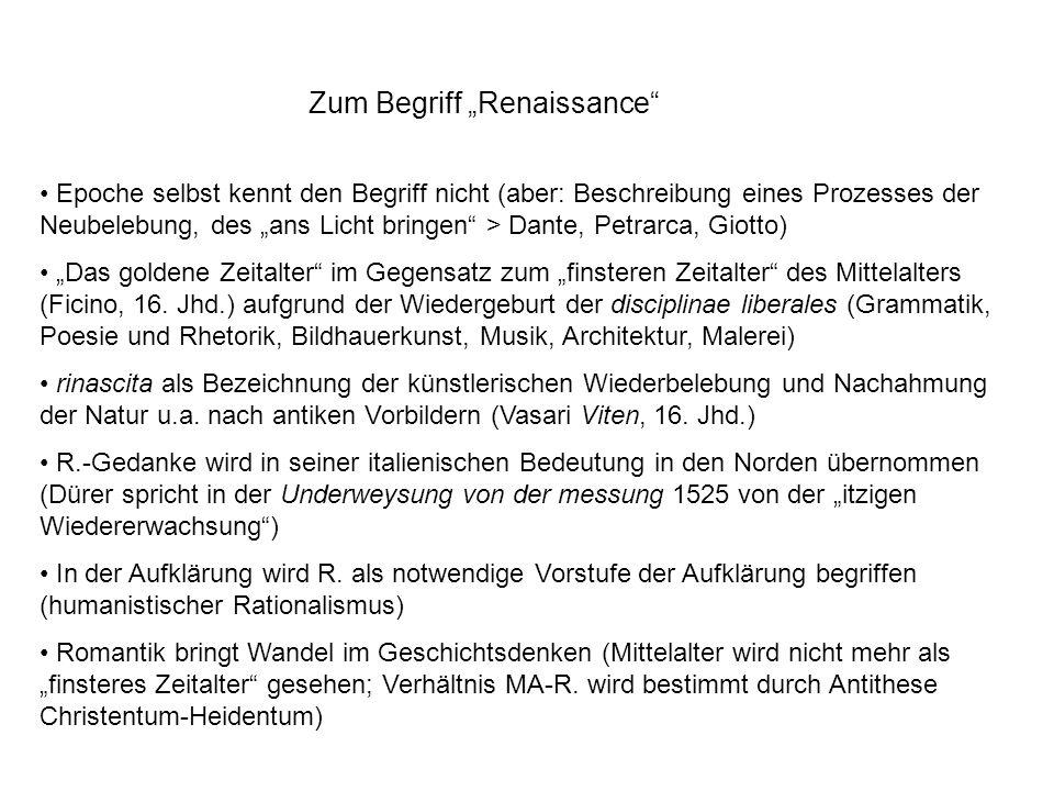 """Zum Begriff """"Renaissance"""