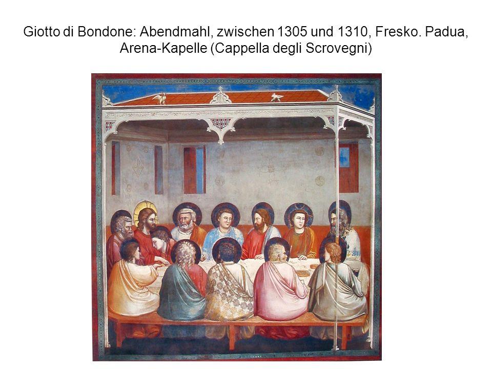 Giotto di Bondone: Abendmahl, zwischen 1305 und 1310, Fresko