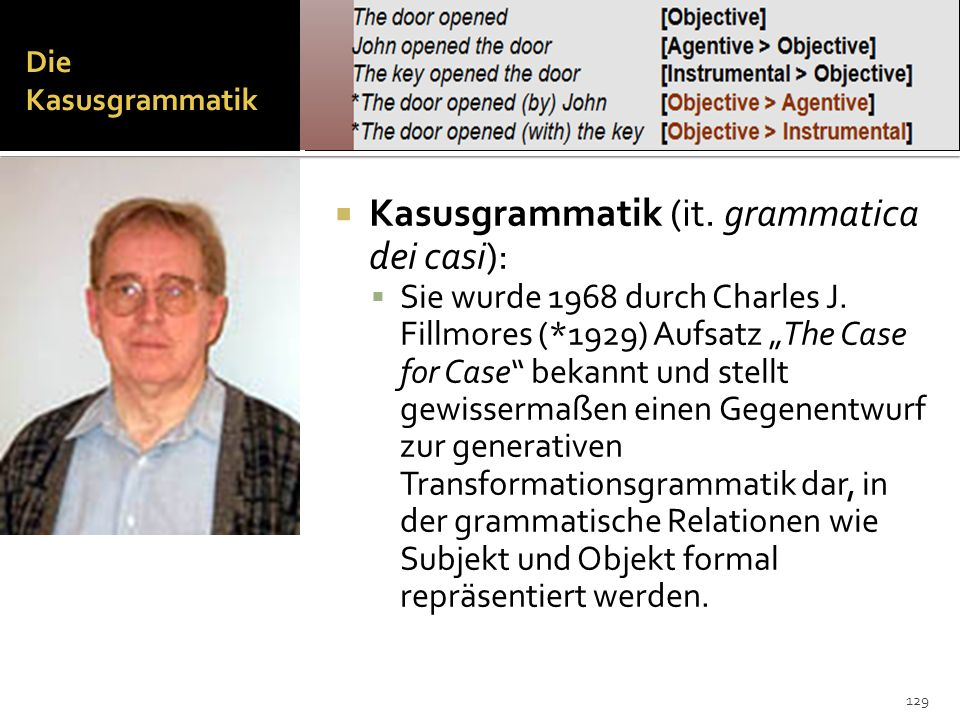 Kasusgrammatik (it. grammatica dei casi):