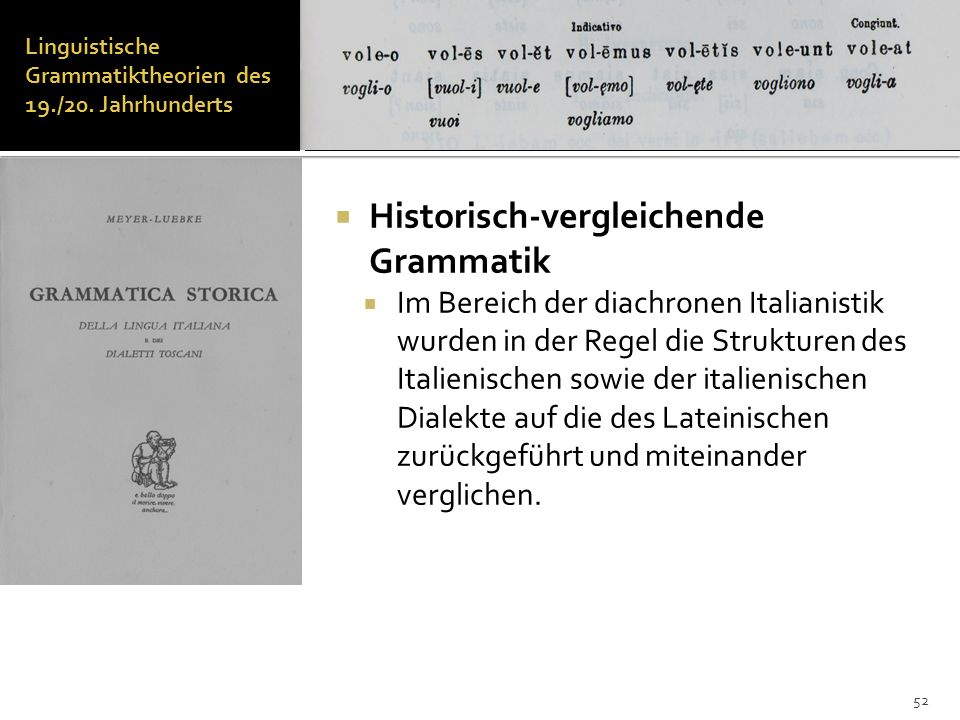 Linguistische Grammatiktheorien des 19./20. Jahrhunderts