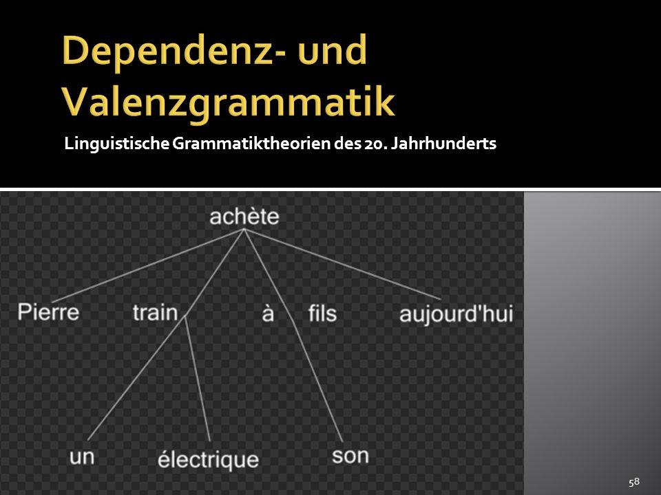 Dependenz- und Valenzgrammatik
