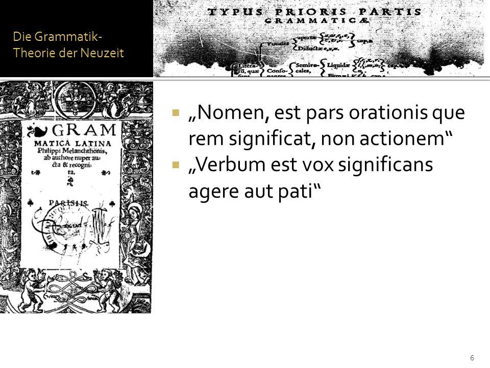Die Grammatik-Theorie der Neuzeit