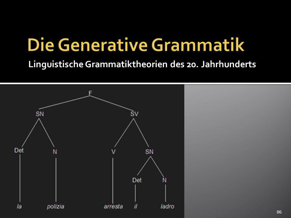 Die Generative Grammatik