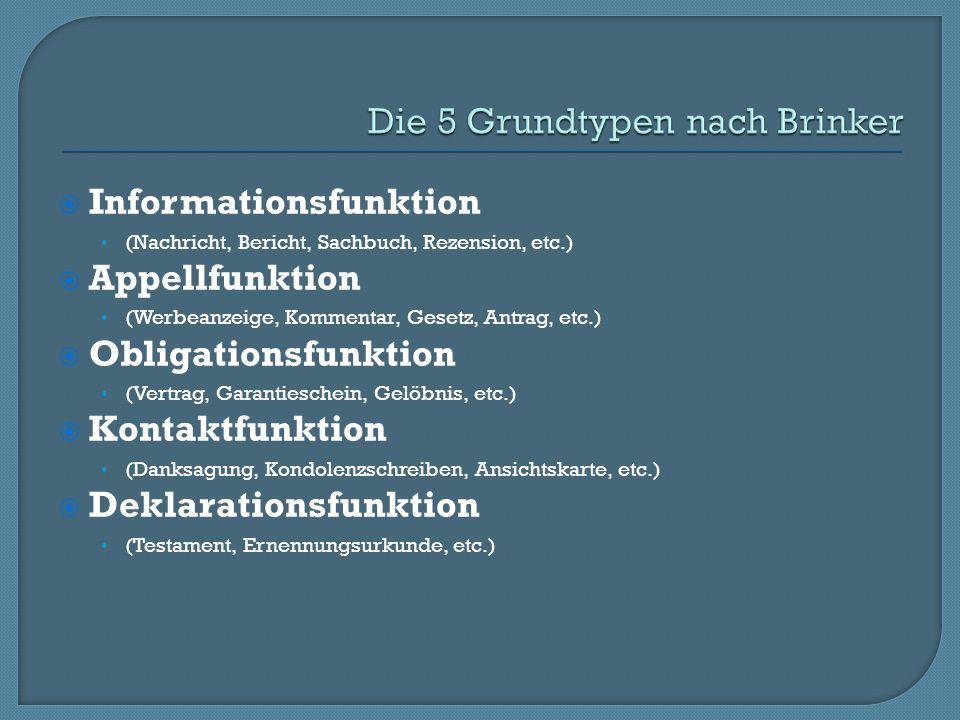 Die 5 Grundtypen nach Brinker