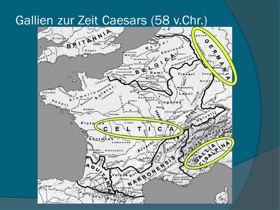 Gallien zur Zeit Caesars (58 v.Chr.)